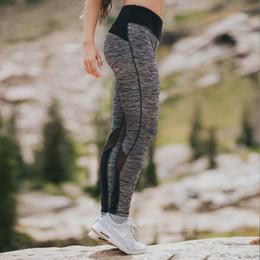 Giacche nere disegni online-Leggings da donna sexy Pantaloni con inserti in maglia gotica Pantaloni neri Capris Sportswear Fitness Leggings hotsale Patchwork High Elastic