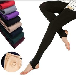 69f44d814bc women winter tights pantyhose Coupons - Women Winter Thick Warm Fleece Faux  Velvet lined Legging Knitted