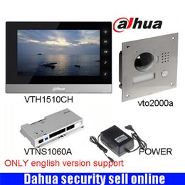 """Wholesale Outdoor Intercom Camera - English 7""""inch Touch Screen Dahua VTH1510CH Monitor with TO2000A outdoor IP Metal Villa Outdoor Video Intercom sysytem DH-VTH1510CH"""