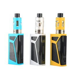 Wholesale e cig big battery - 80w Vape Mod Kit E8 E Cig 2000mAh Built-in Battery Big Button 3.5ml Airflow Control Atomizer Cheapest Box Mod Vaporizer Starter Kits