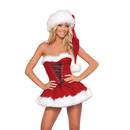 samt sexy sankt Rabatt Sexy Weihnachtskostüm für Frauen dicken Samt Santa Cosplay Anzug erotische Babypuppe Uniform, die Weihnachtsfeier Kleid Outfit C18111601