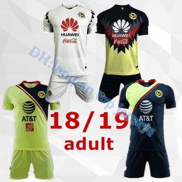 c uniforme Rebajas 2018 2019 LIGA MX Club America kit Soccer Jersey C. DOMINGUEZ R.JIMENEZ R.SAMBUEZA P.AGUILAR Uniforme de camiseta de fútbol personalizado