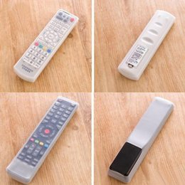 Wholesale Tv Remote Control Protective Case - New Fashion Silicone TV Remote Control Cover Air Condition Control Case Waterproof Dust Protective Storage Bag Organizer
