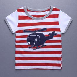 Camiseta de verano de manga corta para niños pequeños Camiseta de algodón  para niños de rayas rojas y blancas para bebés Camiseta de niña Tops de 1 a  6 años ... eeac6c30ca67e