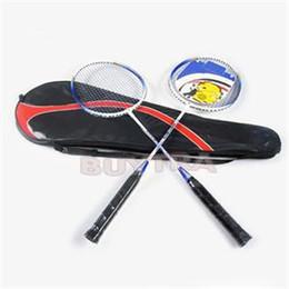 Wholesale Universal Weight - 1 Pair Hot Universal Aluminium Alloy Light Weight Battledore High-strength Badminton Racket Racquet With Carry Bag
