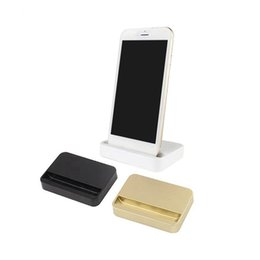 Wholesale desktop charger iphone dock - Universal Dock Charger Stand For iPhone 7 7 Plus 8 8 Plus Desktop Charging Dock Station Cradle For iPhone X With Retail Package