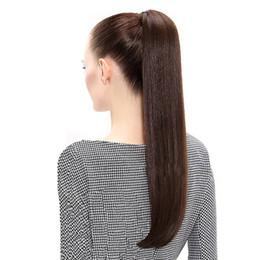 Canada ELIBESS cheveux queue de cheval européenne droite cheveux Extensions 120gram Wrap Around Clip en queue de cheval remy cheveux 14-26 pouces Offre