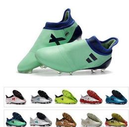 Nuevos zapatos de fútbol para hombre Ace 17 Purecontrol FG zapatos de fútbol X 17 Purechaos FG botas de fútbol envío gratis desde fabricantes