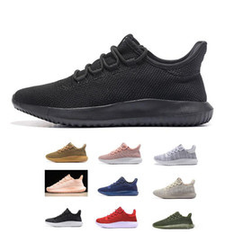 Wholesale Light Gray Red Sport Shoes - Tubular Shadow Knit ultra boost 350 Sneaker MEN & Women Running fashion Sport Shoes all black whiite Blue Red Gray Olive Kanye West Sneakers
