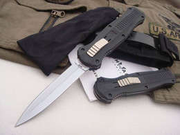 Wholesale top survival gear - Top quality! BM 3310BK C07 HK tactical Knife good action Plain EDC BM42 gear pocket survival knives.