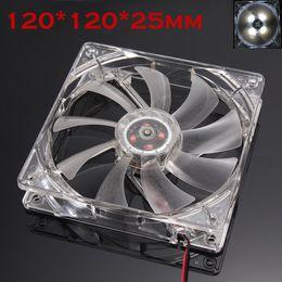 Wholesale Cpu Fan Quiet - Quiet 12cm 120mm 120x120x25mm 12V Computer PC CPU Silent Cooling Case Fan Useful 17Otc24