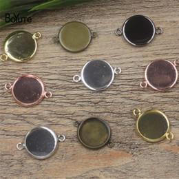 Wholesale Bezel Blanks Bracelet - BoYuTe 50Pcs White K Plated Bracelet Blank Bezel Tray 10MM 12MM 14MM 16MM 18MM 20MM 25MM Cabochon Base Setting Diy Jewelry Accessories