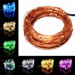 Wholesale Long String Led Christmas Lights - USB Led String Night Light 10M 100leds Sliver Long Life 5V Christmas Holiday Wedding Party Decor Festival Fairy Lamp