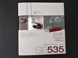 Shure se535 fone de ouvido de alta fidelidade fones de ouvido com cancelamento de ruído fones de ouvido handsfree fones de ouvido com pacote de varejo logotipo bronze de