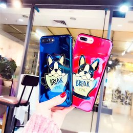 Wholesale puppy iphone case - Puppy Dog Cartoon Pattern Personality Creative Blu-Ray Soft TPU Cover Phone Case For iPhone X 8 7 6 Plus