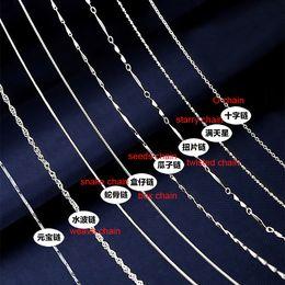 Nickelfreie silberne ketten online-Sterling Silber Ketten Halskette Kette Modeschmuck 18 Zoll Blei Nickel frei Silber Halskette Kette für DIY Schmuck Großhandel