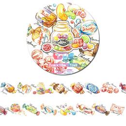 10m di lunghezza Decorazioni di caramelle dolci e dolci washi Tape DIY planner Diario scrapbooking nastro adesivo Escolar 2016 da