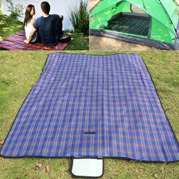 Wholesale folding outdoor cushion - Picnic Folding Camping Mat Multifunction Cushion Outdoor Beach Moisture Proof Waterproof Sleeping Cushion Plaid Blanket HH7-408
