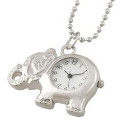 Éléphant en argent en Ligne-Montre en forme de pendentif en forme d'éléphant en métal argenté