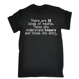 Programador online-10 tipos de personas entienden el regalo programador del cumpleaños del programador del regalo de la camiseta binaria Envío libre unisex casual camiseta