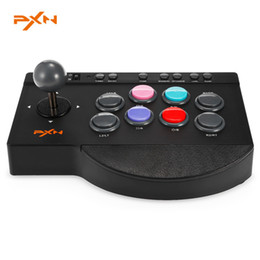 Wholesale Stick Shocking - PXN 0082 USB Wired Game Controller Arcade Fighting Joystick Stick for PS3 PS4 Xbox one PC Joystick Game Controller