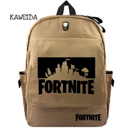 bab87a919078 Cool Canvas Fortnite Backpack School Bags Bookbag Shoulder Casual Daypack  Laptop Shoulder Bagpack for Men Women Girls Boys Black