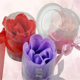 2016 neue 3 stücke / 1 box Durable Scented Blume Bad Körper Seifen Blume Form Für Bade Zufällige Farbe Top Verkauf neue von Fabrikanten