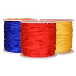 0.8 MM * 45 M / Rulo Çince Düğümlü Konu Naylon Kordon DIY El Sanatları Aracı Bilezik Kolye Takı Kordon Dikiş Craft Dekorasyon Hattı supplier craft knots nereden zanaat knot tedarikçiler