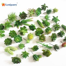 All'ingrosso-LumiParty artificiale succulente realistica multi tipo di PVC pianta giardino miniatura aloe cactus casa fai da te floreale Decor-40 cheap wholesale miniature succulents da succulente all'ingrosso in miniatura fornitori