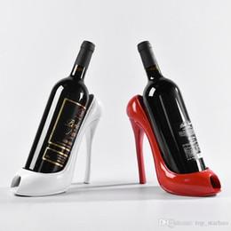 Wholesale Rack Wines - 2018 High Heel Shoe Wine Bottle Holder Shoes Design Silicone Wine Bottle Holder Rack Shelf for Home Party Restaurant Free DHL XL-435
