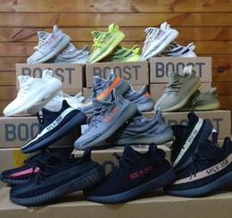 Wholesale Day Light Running - Free 3-7 Days DHL Shipping 2018 Boost 350 V2 Zebra Oreo Orange Grey Black Red Stripe Cream White Kanye West Running Shoes For Sale