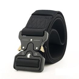 4,5 cm online-Nuovo 4.5 cm Cintura tattica fibbia in nylon alta qualità 125 cm Cintura intrecciata casual uomo donna Trainin H3E12