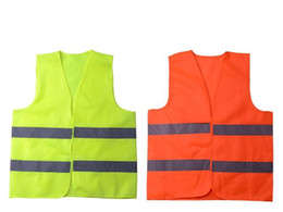 Wholesale Work Clothes Wholesale - New High Visibility Working Safety Construction Vest Warning Reflective traffic working Vest Green Reflective Safety Clothing 50pcs