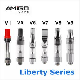 Оригинальные картриджи Amigo Liberty Vape V1, V5, V6, V7, V8, V9, V9, стеклянный резервуар, распылители, керамическая катушка, густой масляный картридж, испаритель 0,5 мл, 1 мл cheap v6 tank от Поставщики бак v6
