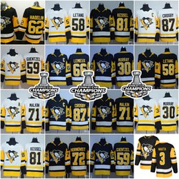 Wholesale Purple Mario - Pittsburgh Penguins 87 Sidney Crosby 66 Mario Lemieux 30 Matt Murry 71 Evgeni Malkin 81 Phil Kessel Guentzel 2018 Stanley Cup Jersey Stitch
