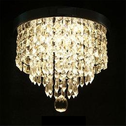 Luz de alpendre pingente on-line-Lustre moderno Luz de Teto Luminária de Cristal Lâmpada Pingente de Teto Lâmpada Do Patamar Alpendre Quarto Sala de estar Luzes de Teto Varanda