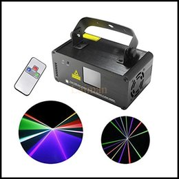 Wholesale Mini Laser Dmx - New DM-RGB400 IR Remote DMX 512 Mini 400mW Full Color Laser Stage Lighting Scanner DJ Dance Party Show Projector Lights