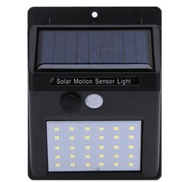 Wholesale Solar Powered Night Lights - 30LED Solar Power PIR Motion Sensor Wall Lights Outdoor Powered Waterproof Lamp Garden Security Night Pathway Street Corridor