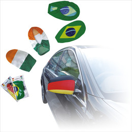 Wholesale Fabric World - National flag Car Side View Mirror Cover Rear View Wing Side Mirror sleeve 2018 WORLD CUP