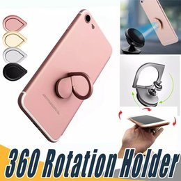 Wholesale Magnetic Finger - Top Quality Water Drop Finger Ring Holder Universal Mobile Phone Ring Magnetic Stander With Retail Package For iPhone Sumsung All Handset