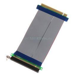 Cables expresos pci online-PCIe 16X PCI Express PCI-E 16X Adaptador de tarjeta Riser Extender Cable flexible