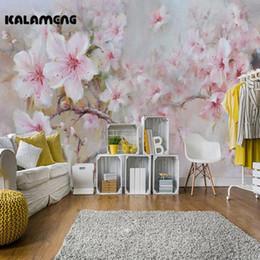 2018 Schlafzimmer Design Malerei KALAMENG Benutzerdefinierte 3D Wallpaper  Design Ölfarbe Pfingstrose Foto Küche Schlafzimmer Wohnzimmer Wandbilder