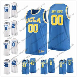13 basketball jersey Canada - Custom UCLA Bruins College Basketball light  blue baby white Stitched Any c6d28432c