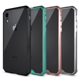iphone hard case Coupons - For Iphone XR Case Clear Soft TPU Hard PC Back Cover Phone Case for Iphone XR XS Max