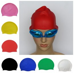 Wholesale Silicone Swim Caps Wholesale - Durable Flexible Swimming Cap Silicone Hats Swim Cap Bathing Hat Unisex For Child and Adults DDA373