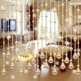 Portes de porche en Ligne-Nouveau Creative Suspendre Rideaux Porche Partition Cristal Perle Rideau Diamants De Luxe Salon Chambre Fenêtre Porte De Mariage Décor 6 6wc aa