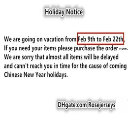 Wholesale Chinese Items - Holiday Notice ---Before Shopping NOTE--- We are sorry that almost all items will be delayed during Chinese New Year holidays Jerseys.