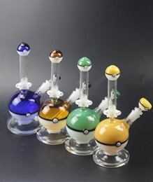 Wholesale bowling ball types - Build A Bong 26cm High Heady Glass Ball Wax Bongs With Bowl Piece 18mm Joint Dab Oil Rigs Ball Glass Water Pipes