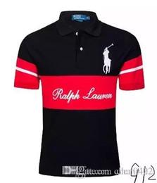 Marca de moda para hombre camisa de polo de manga corta camiseta London New  York Chicago Sportwear barato alta calidad envío gratis 08 51c3214430a43