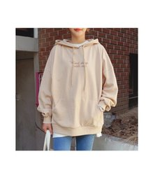 Wholesale Polo Sweater Women - In the east gate of the ulzzang Polo hooded sweater embroidery female BF students hoodie coat loose tide